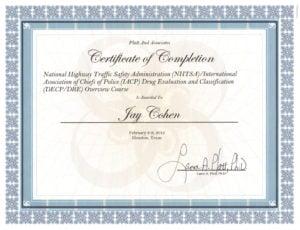 DRE Certificate