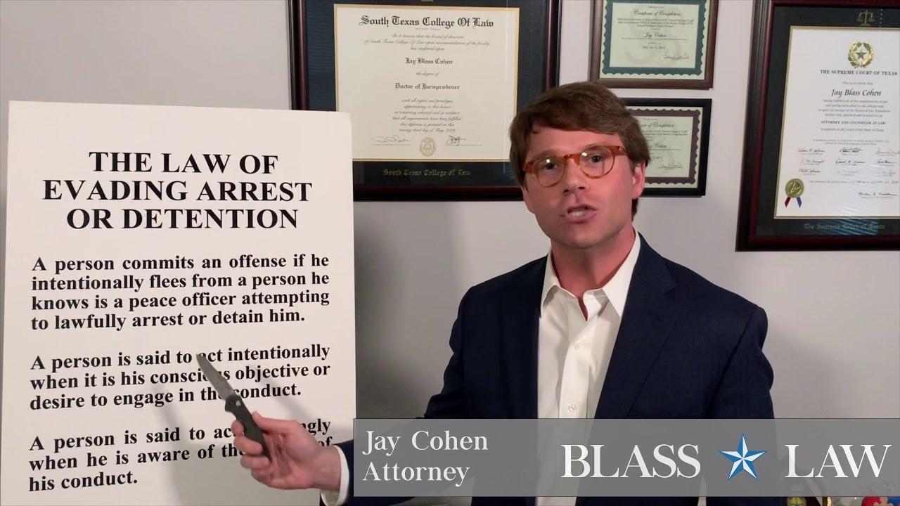 Evading arrest or detention in Texas