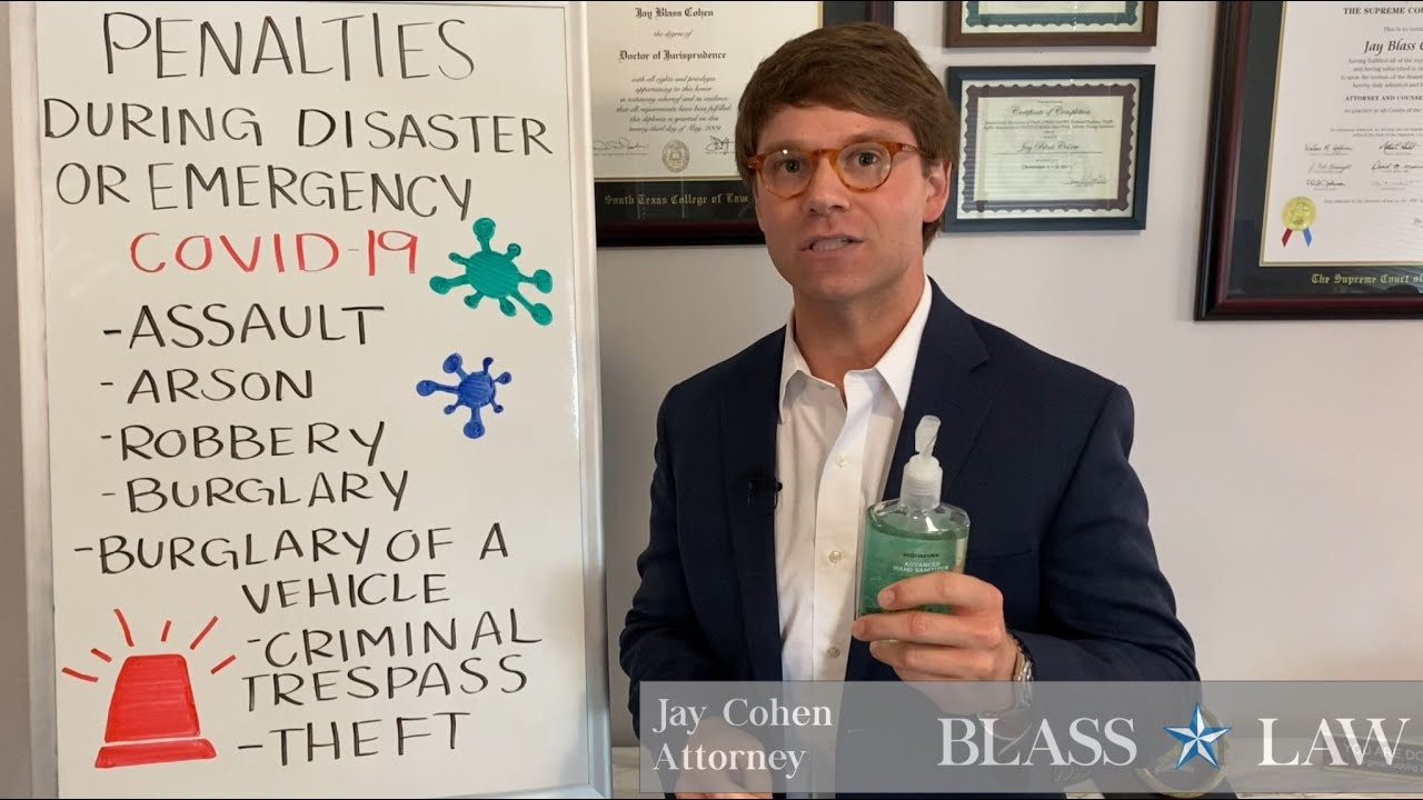 Increased criminal penalties during emergency or disaster (COVID-19)