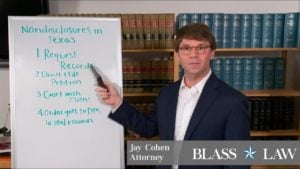 Nondisclosure procedure in Texas